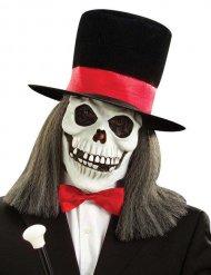 Masque de squelette avec chapeau Halloween