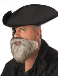 Barbe grise pirate des caraïbes homme