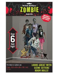 Décoration murale zombie Halloween
