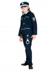 Déguisement policier uniforme enfant bleu