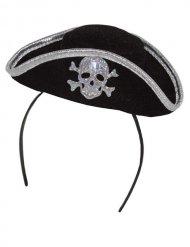 Serre-tête mini chapeau de pirate