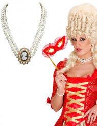 Ras de cou perles baroque femme