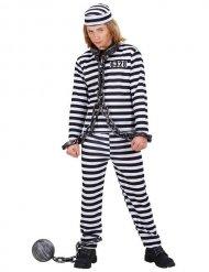 Déguisement prisonnier noir et blanc enfant