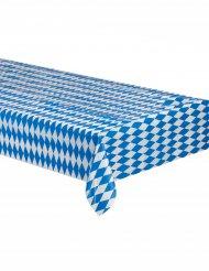 Nappe bavaroise à carreaux bleus et blancs 260x80cm