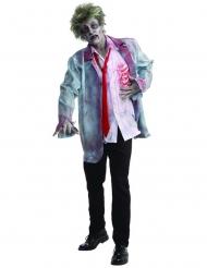 Déguisement zombie Halloween blanc-rouge-gris homme