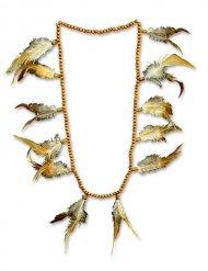 Collier indien avec perles et plumes femme