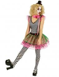 Déguisement clown arlequin coloré femme