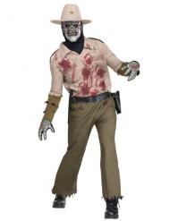 Déguisement zombie shérif homme