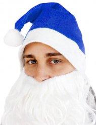 Bonnet de Noël bleu adulte