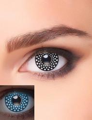 Lentilles fantaisie UV quadrillage noir et blanc adulte