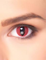 Lentilles fantaisie œil dragon rouge adulte