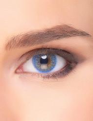 Lentilles fantaisie bleu ciel électro adulte
