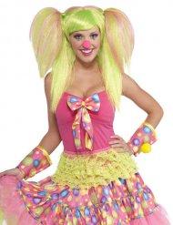 Perruque clown avec couettes vert clair