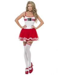 Déguisement Miss Marathon rouge-blanc femme
