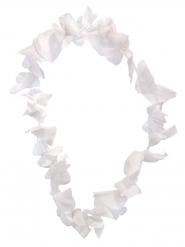 Collier hawaïen blanc