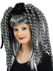 Rajouts cheveux clignotants gris pour femme
