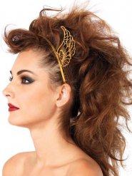 Serre-tête ailes dorées femme