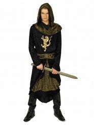 Déguisement chevalier noir et or homme