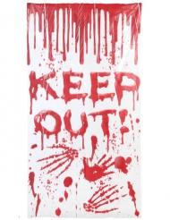 Décoration de porte sanglante 167 x 182cm Halloween