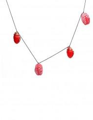 Guirlande coeur et cervelle rouge 150x9cm Halloween