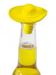 Bouchon en forme de sombrero jaune 6x9cm