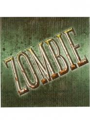 Serviettes de table zombie vert