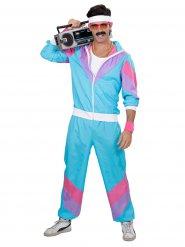Déguisement jogging 80's turquoise homme