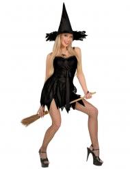Déguisement sorcière sexy noir femme