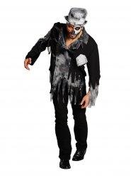 Déguisement de marié zombie gris-noir pour homme