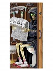 Décoration de porte  faucheuse  Halloween 76 x 152 cm