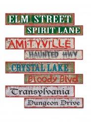 Décorations panneaux de signalisation Halloween