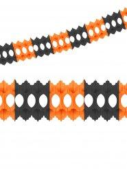 Guirlande en papier orange et noir 360x10 cm