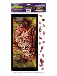 Autocollant pour micro-ondes tête de zombie Halloween 30 x 61 cm