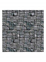 Décoration mur de pierre gris Halloween 1,2x9,1m