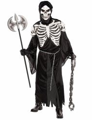 Déguisement squelette effrayant adulte