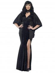 Déguisement reine gothique noire femme Halloween
