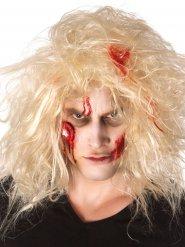 Kit maquillage zombie avec oeil ensanglanté adulte Halloween