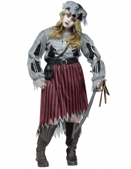 Déguisement femme pirate-zombie grande taille