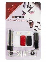 Kit maquillage sorcière avec lentilles de contact adulte