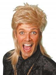 Perruque mulet années 80 blond adulte