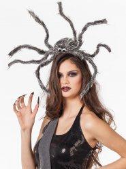 Coiffe araignée grise Halloween