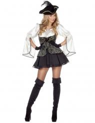 Déguisement de pirate élégant femme