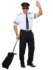 Déguisement commandant de bord homme