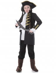 Déguisement enfant pirate noble noir