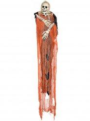 Faucheuse squelette orange Halloween  112 cm
