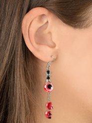 Boucles d'oreilles oeils et têtes de mort  rouges Halloween