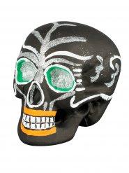 Décoration crâne Dia de los muertos noir 21 x 16 x 15 cm