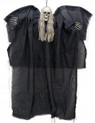 Décoration ange noir de la mort lumineux à suspendre 110cm