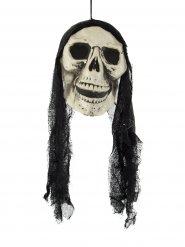 Suspension tête de mort 48 cm