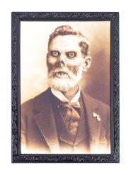 Cadre lenticulaire grand-père squelette 36 X 48 cm Halloween